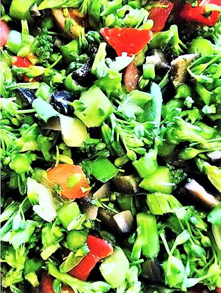 A Plant-Based Pyramid: Broccoli Salad