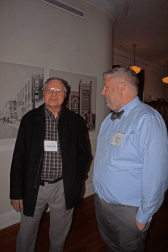 Carlton Holt (left) and Michael Hevel at the Dec. 10, 2018, Retired Faculty Luncheon