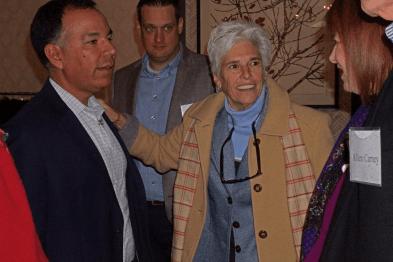 Paul Calleja, Jeremy Battjes and Ro Di Brezzo at the Dec. 10, 2018, Retired Faculty Luncheon
