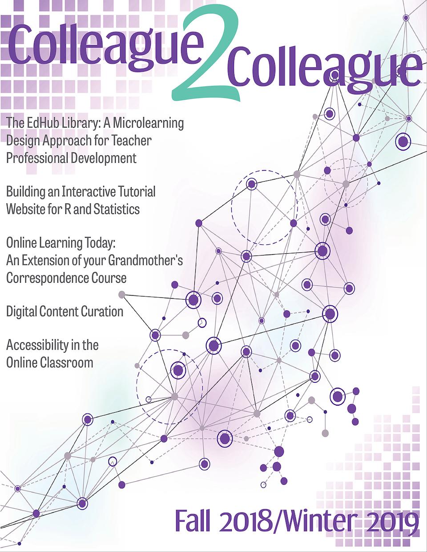 Colleague2Colleague Fall 2018/Winter 2019 Cover