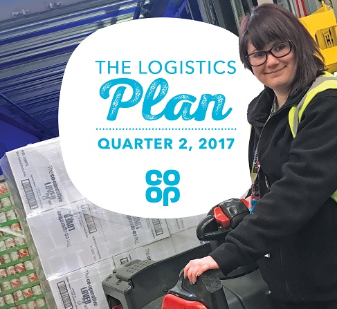 Colleague on the front cover of the Logistics plan
