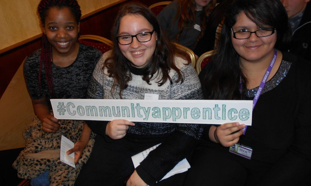 Three young girls who Co-op Foundation has helped