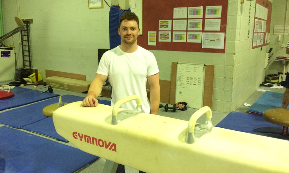 Olympic medallist Dan Purvis who trains at Southport Gymnastics Club