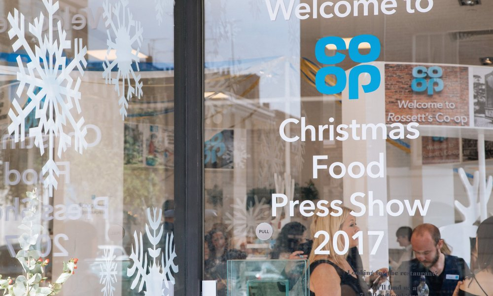 Welcome sign to the 2017 Co-op Food press show