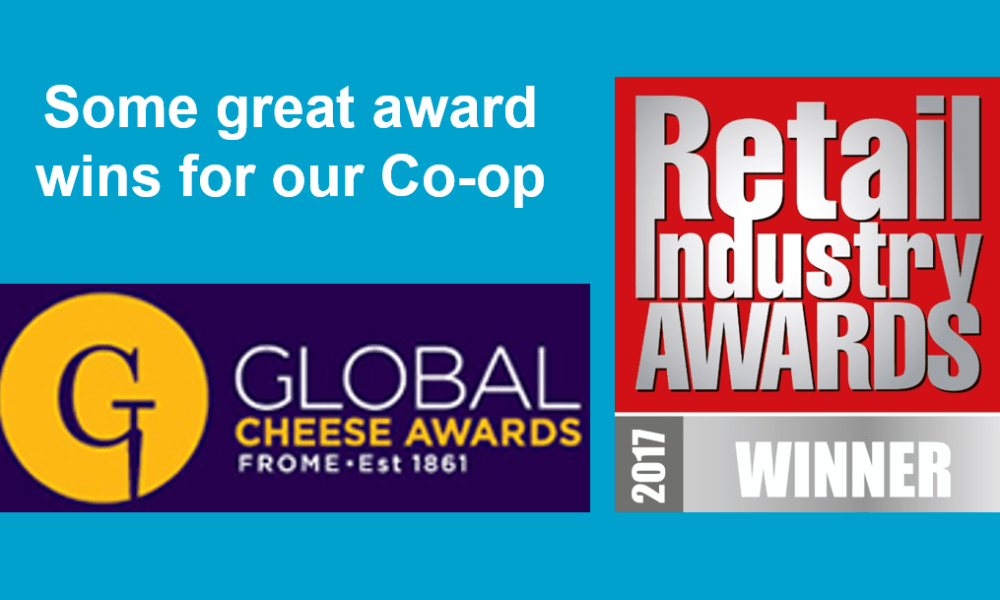 Logos of the Retail Industry Awards 2017 and Global Cheese Awards