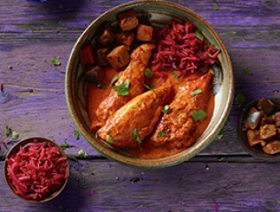 Co-op Irresistible Chicken Makhani with Beetroot Rice