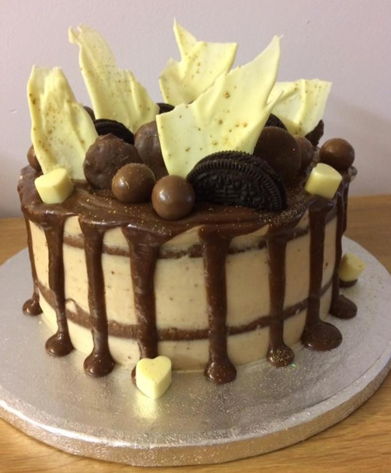Janet Roberts baked her malted caramel cake