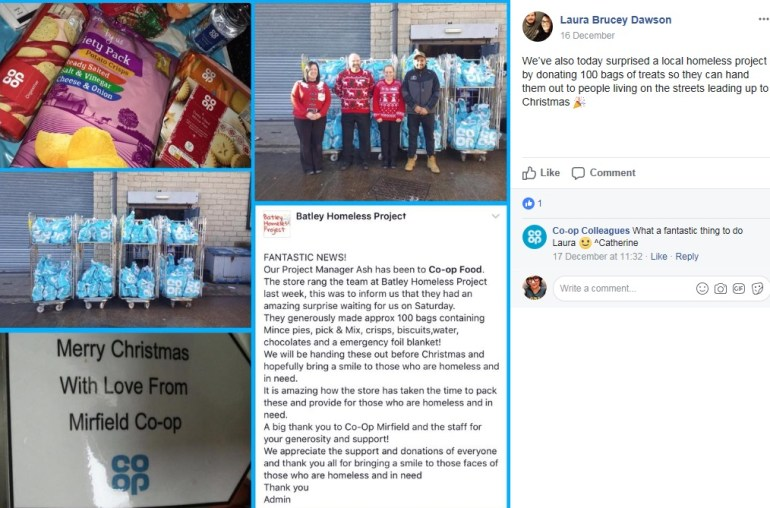Mirfield Co-op supports Batley Homeless Project