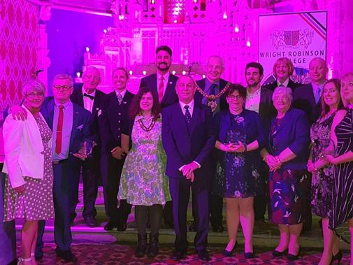 Levenshulme Square Residents' Association winning the Community pride award
