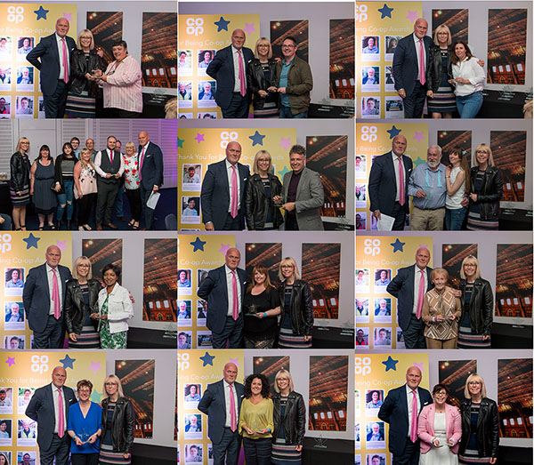 Our 12 Thank you for Being Co-op winners receiving their awards