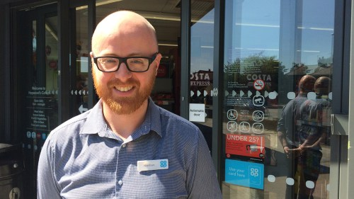 Store manager Nathan Harris