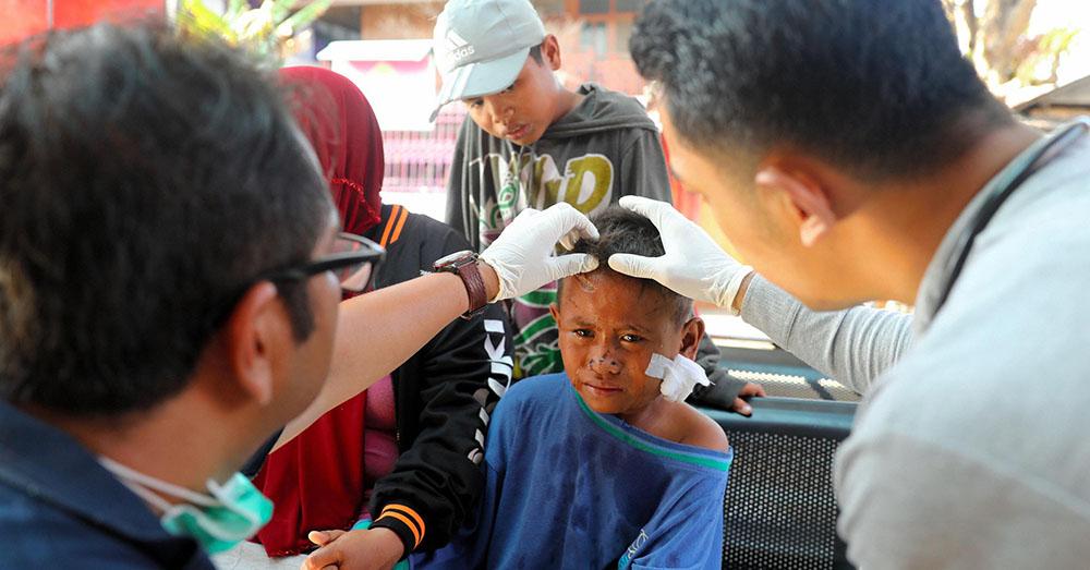 Image of Indonesia tsunami survivor