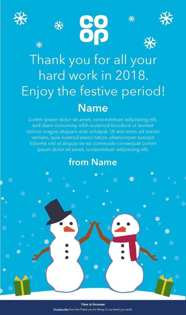 Example festive card