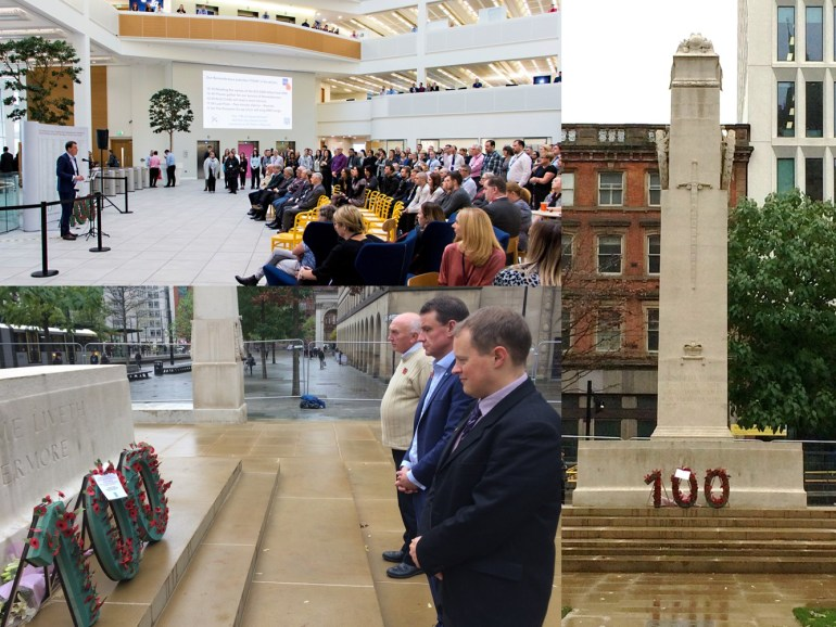 montage of images from the remembrance service