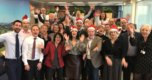 Co-op leaders - captured saying 'thank you and Merry Christmas' to colleagues