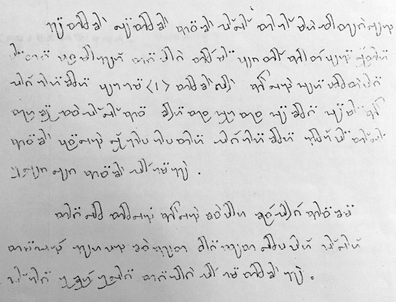 A notice in the old Dehong Dai script