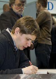 Daniel Kehlmann at the Leipzig Book Fair.