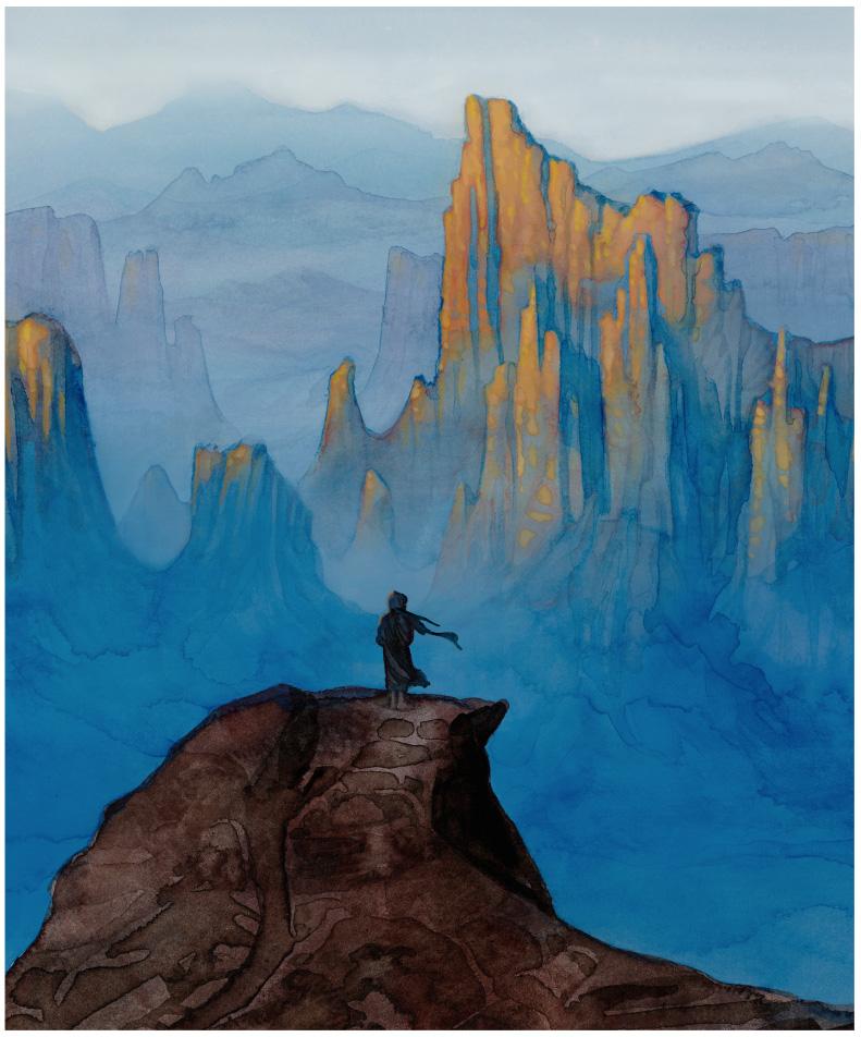Mysterious Traveler by Mal Peet & Elspeth Graham (P.J. Lynch, Illustrator)