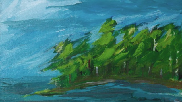 whiteshell landscape painting buying canadian art janet bright