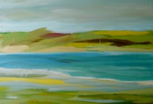 autumn bay landscape painting clouds buying canadian art janet bright
