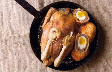 Trending-Tastes-Roast-chicken-with-bacon-Scotch-eggs-c-Dan-Lepard12