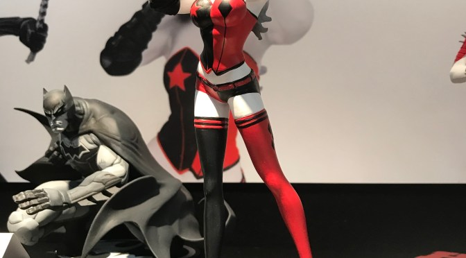John Timms Harley Quinn Red White and Black Statue   Toy Fair 2019