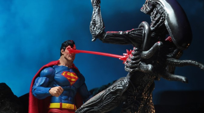"DC Comics/Dark Horse Comics – 7"" Scale Action Figures – Superman vs Aliens 2-Pack"