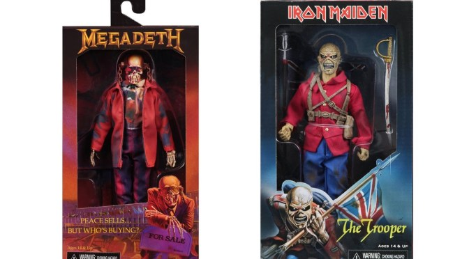 Iron Maiden & Megadeth 8″ Cloth Trooper Eddie and Rattlehead figures