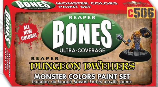 Unbox Reaper Bones en español: MSP Dungeon Colors Set – MSP Monster Colors Set