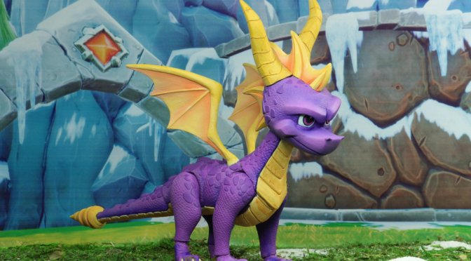 "Now available in limited quantities 7"" Scale Action Figure – Spyro The Dragon!"