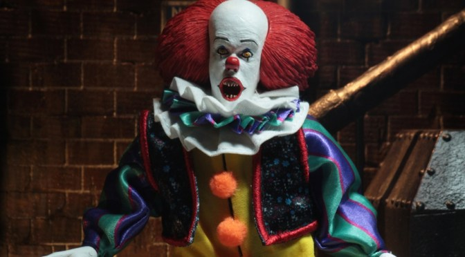 Now available in limited quantities on eBay & Amazon is the NECA: IT 1990 8″ Cloth Figure Pennywise