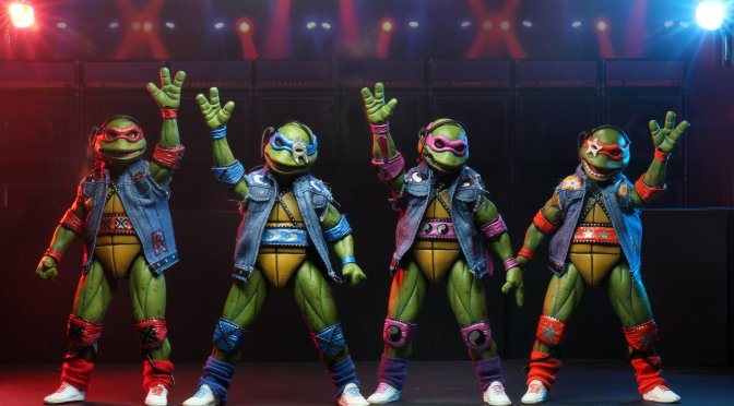 "Teenage Mutant Ninja Turtles (1990 Movie) – 7"" Scale Action Figure – TMNT Musical Mutagen Tour 4 Pack"