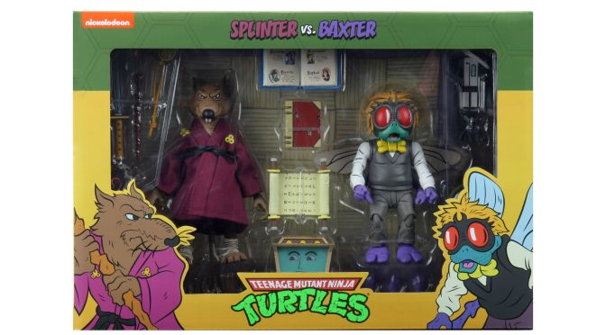 Here are the final packaging photos for Cartoon Baxter Stockman & Master Splinter 2 Pack.