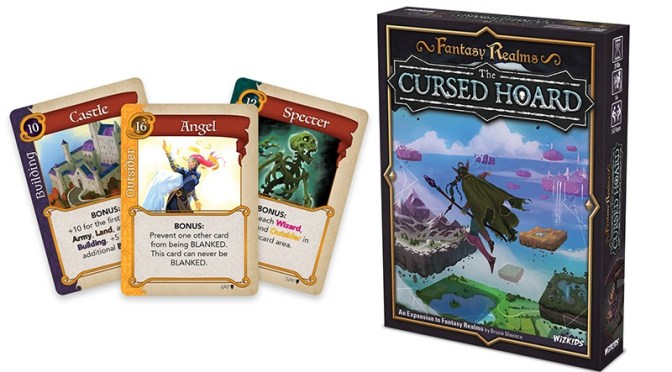 Wield the terrible power of Cursed Items to grow your realm in Fantasy Realms: The Cursed Hoard —Available Now!