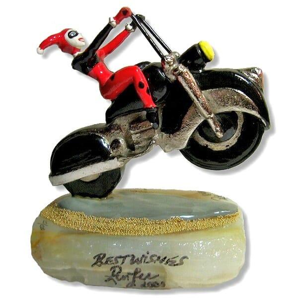 Harley Quinn On Motorcycle Figurine