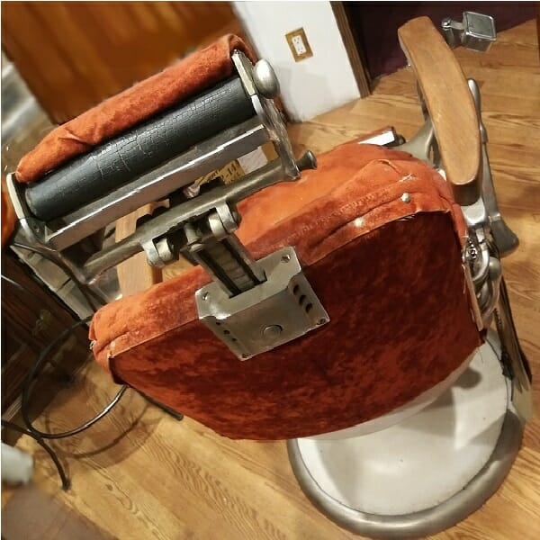 Koken Barber Chair back view