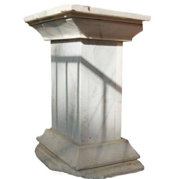 Carrara White Marble Podium