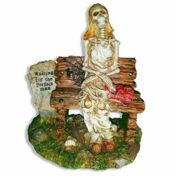 Skeleton Waits For Man Figurine