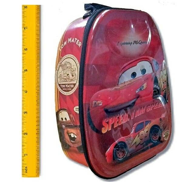 Lightning McQueen Lunch Backpack measurement