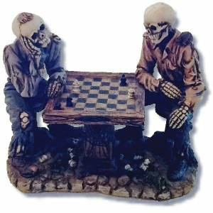 Collectible Skeletons Playing Chess