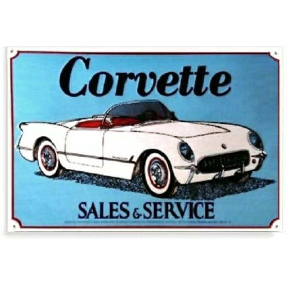 Corvette Sales And Service Sign