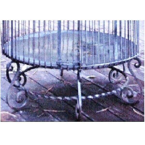 Wrought Iron Birdcage XL legs close up