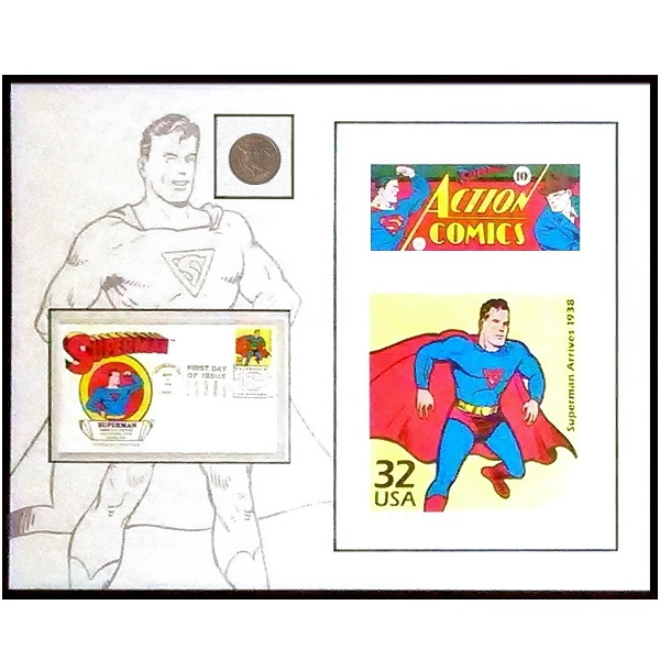 Superman Coin Stamp Lithograph Set