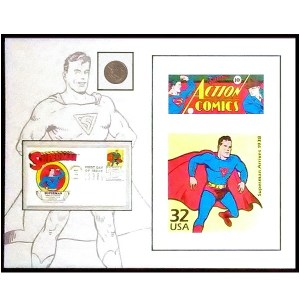 Superman Coin Stamp Litho Set