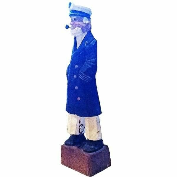 Wood Sailor Captain Figurine side view 3
