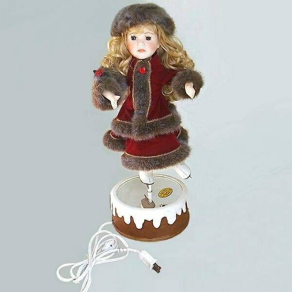 Christmas Musical Ice-Skater Doll collectible