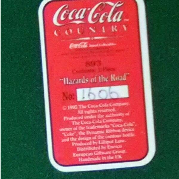 Lilliput Lane Coca-Cola billboard bottom close up