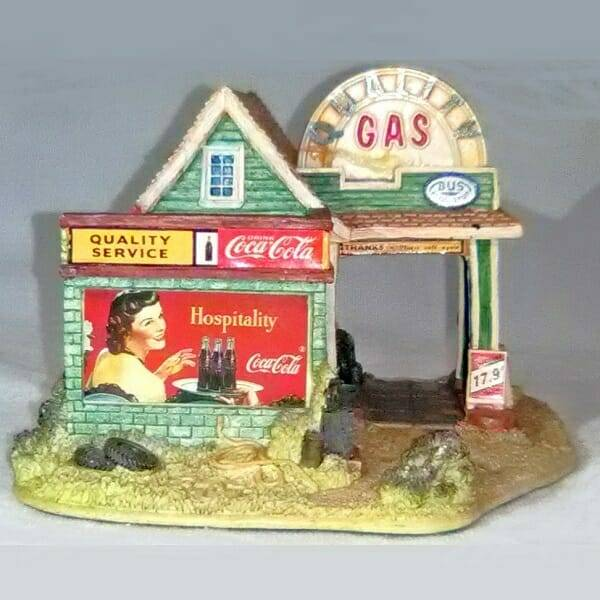 Lilliput Lane Coca-Cola Gas Station side 1 view
