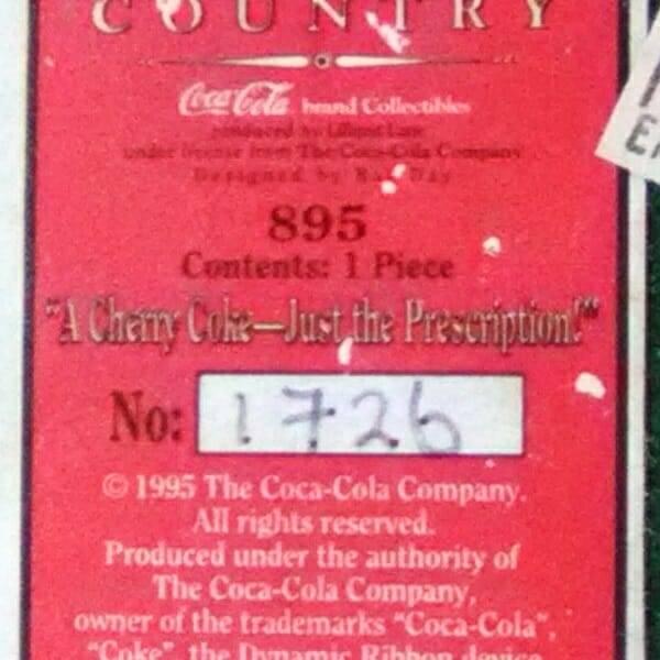 Lilliput Lane Coca-Cola Pharmacy bottom close up