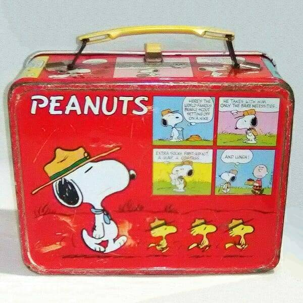Peanuts Lunch Box back view